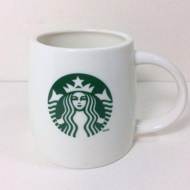 STARBUCKS COFFEE 2011 18 OZ WHITE GREEN SIREN MERMAID LOGO WIDE BOTTOM MUG CUP