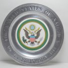 Wilton Pewter Plate 1st Federal Savings Worcester Mass The Great Seal of the US