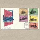 SAN MARINO 1964 FIVE TRAIN STAMPS ON FIRST DAY COVER