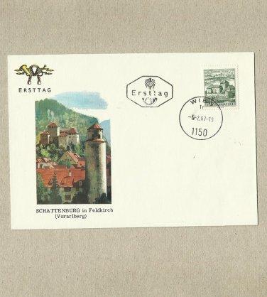 AUSTRIA SCHATTENBURG IN FELDKIRCH STAMP FIRST DAY COVER 1967