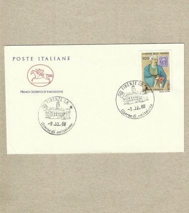 ITALY STAMP DAY FIRST DAY COVER FDC 1988