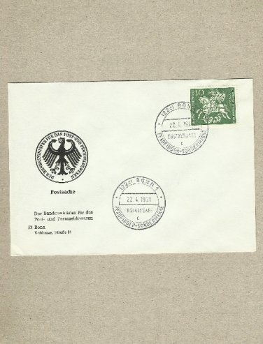 GERMANY 50 FIFTY YEARS OF SCOUTING GEORGE AND THE DRAGON FIRST DAY COVER 1961