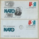 UNITED STATES PAIR NATO 25th ANNIVERSARY GENERAL EISENHOWER 1984 FIRST DAY COVERS