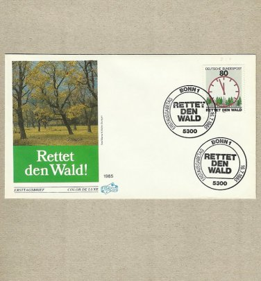 GERMANY SAVE THE FOREST RETTET DEN WALD FDC FIRST DAY COVER 1985
