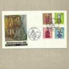 GERMANY WELFARE DOLLS FOUR STAMP FDC FIRST DAY COVER 1968