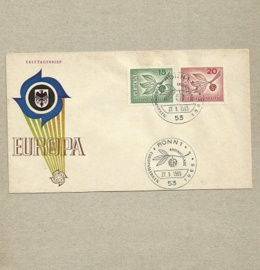 GERMANY EUROPA TREE SPRIG STAMPS FIRST DAY COVER 1965