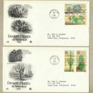 UNITED STATES DESERT PLANTS OF AMERICA STAMPS TWO FIRST DAY COVERS 1981