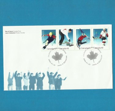 CANADA SALT LAKE CITY OLYMPIC GAMES FDC FIRST DAY COVER 2002