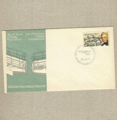 CANADA WILLIAM HAMILTON MERRITT 1974 FDC FIRST DAY COVER