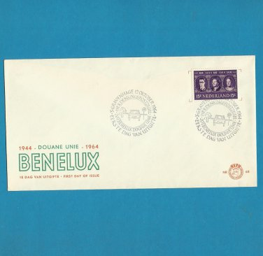 NETHERLANDS 20th ANNIVERSARY BENELUX STAMP FIRST DAY COVER 1964