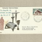 FRANCE CHAPEL OF NOTRE DAME DU HAUT FIRST DAY COVER 1965