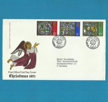 UNITED KINGDOM CHRISTMAS FIRST DAY COVER 1971