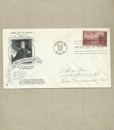 UNITED STATES ACQUISITION OF NEW MEXICO FIRST DAY COVER 1946