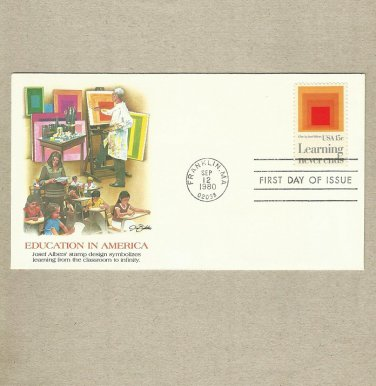 UNITED STATES EDUCATION IN AMERICA STAMP FIRST DAY COVER 1980