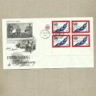 UNITED STATES 25th ANNIVERSARY UNITED NATIONS FOUR 6 CENT STAMPS FDC 1970