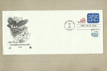 UNITED STATES POSTAL BULK RATE FIRST DAY OF ISSUE POSTAL COVER 1992