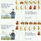 125 YEARS NOVAMOSKOVSK POST CENTRE TWO POSTAL COVERS TWENTYFIVE STAMPS 2010