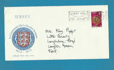 UNITED KINGDOM JERSEY CENTENAIRE SOCIETE JERSIAISE FIRST DAY COVER 1973