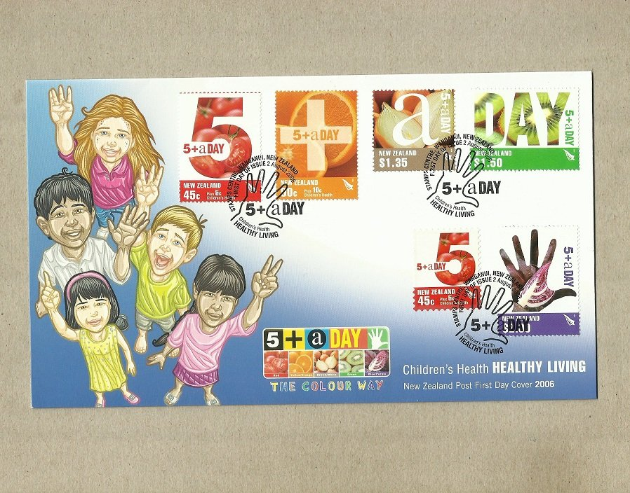 NEW ZEALAND HEALTHY LIVING FIRST DAY COVER STAMPS 2006