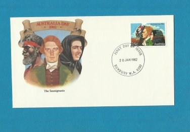AUSTRALIA DAY THE IMMIGRANTS AUSTRALIAN FIRST DAY COVER 1982
