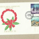 DOMINICAN REPUBLIC NAVIDAD NATIVITY CHRISTMAS STAMPS FIRST DAY COVER FDC 1998