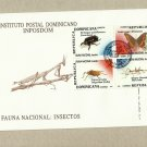 DOMINICAN REPUBLIC FAUNA NATIONAL INSECTS STAMPS FIRST DAY COVER FDC 1999