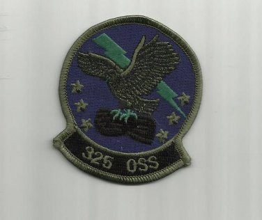 325th OPERATIONS SUPPORT SQUADRON TYNDALL AIR FORCE BASE UNIFORM PATCH BADGE