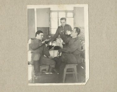 THREE SOVIET SOLDIERS PHOTOGRAPH WITH PERSONAL MESSAGE JANUARY 1956