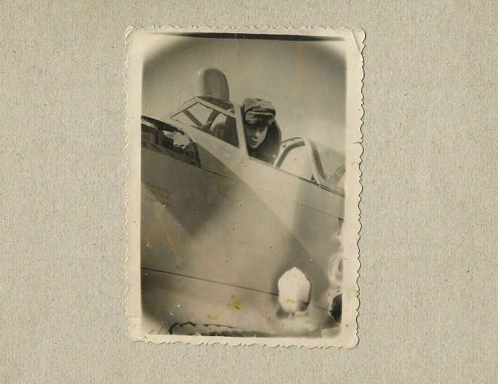 COLD WAR 1957 SOVIET PILOT IN COCKPIT PHOTOGRAPH WITH DATE AND LOCATION