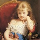 VINTAGE CHILD GIRL ANTIQUE DOLL CANVAS ART PRINT LARGE