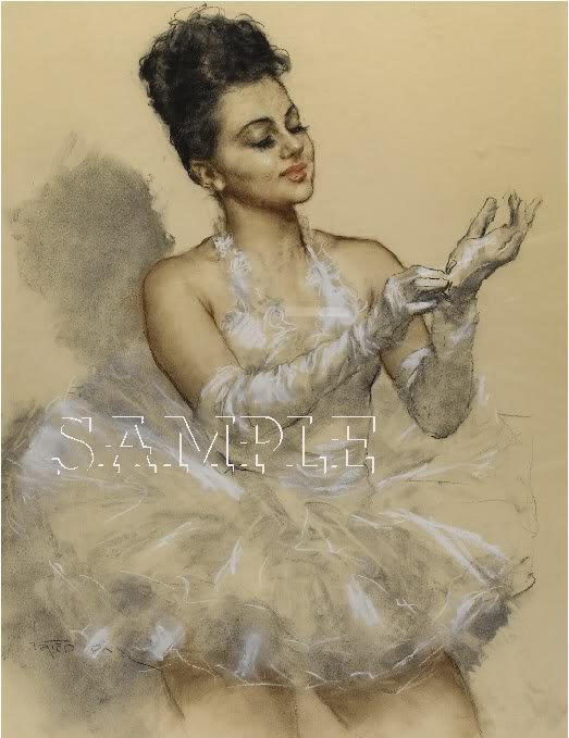 VINTAGE BALLET BALLERINA DANCER DANCE CANVAS ART PRINT