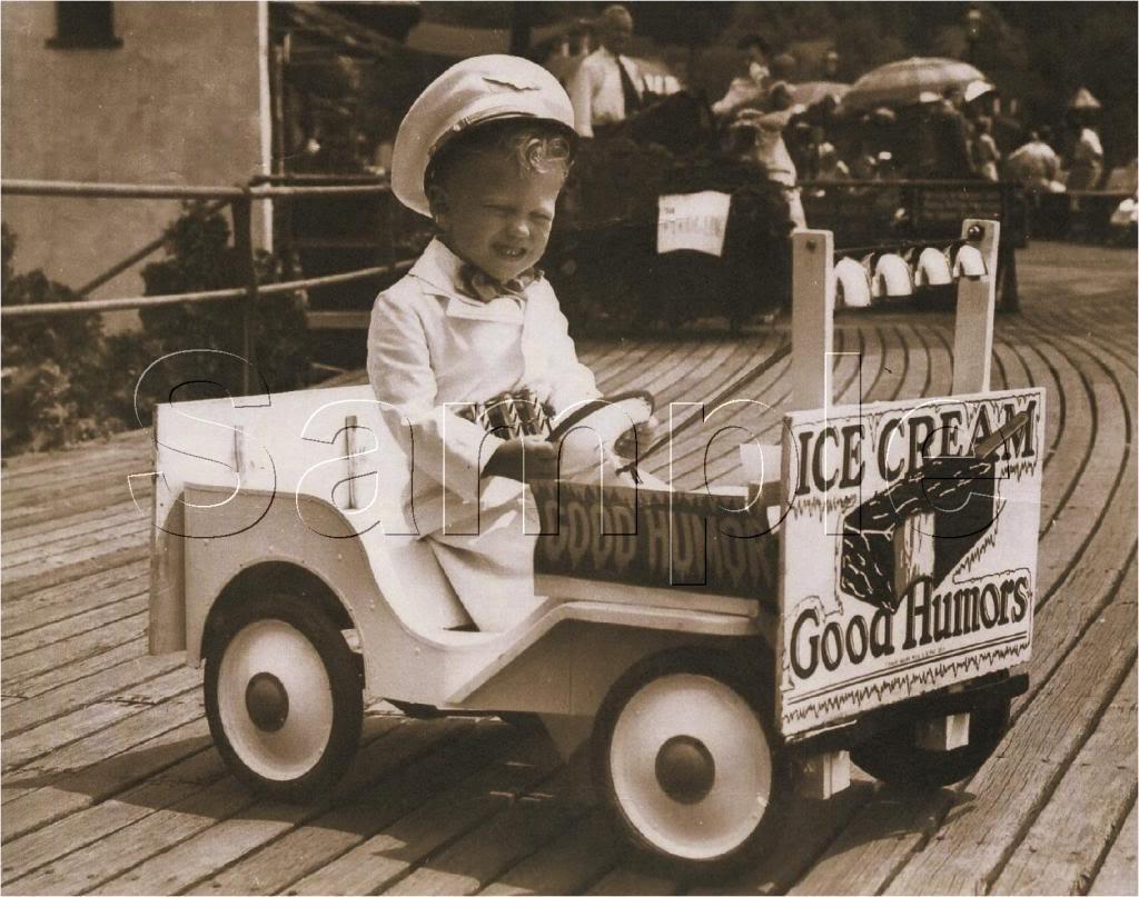 GOOD HUMOR ICE CREAM PEDAL CAR BOY CANVAS PRINT - LARGE