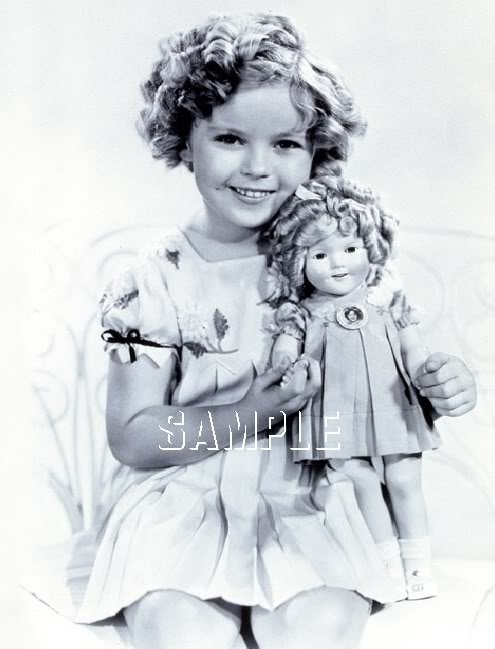 VINTAGE CHILD STAR SHIRLEY TEMPLE & DOLL CANVAS PRINT
