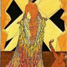 ART DECO NOUVEAU SHOW GIRL LADY GLAMOUR CANVAS PRINT