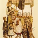 VINTAGE CHILDREN ICE CREAM CONE VENDOR CANVAS ART PRINT