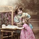 ANTIQUE CHILD WALKING DOLL PHOTO CANVAS ART PRINT-LARGE