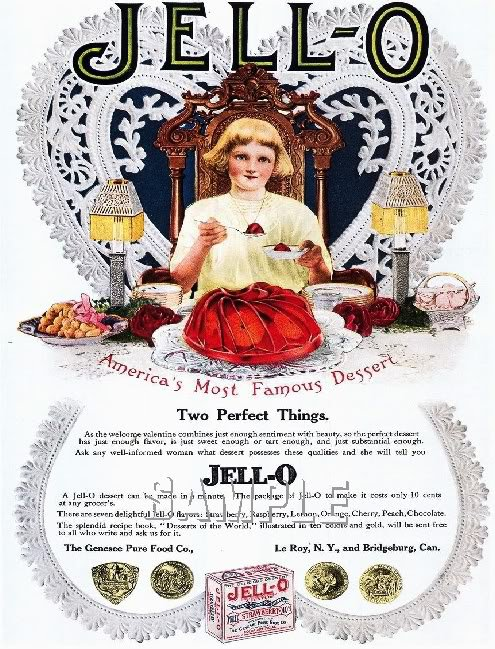 VINTAGE JELLO CHILD DESSERT KITCHEN CANVAS ART PRINT