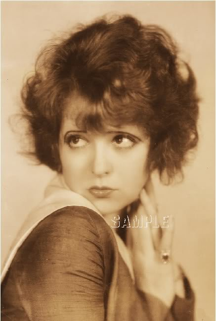 CLARA BOW SILENT FILM STAR SEXY PHOTO CANVAS ART PRINT