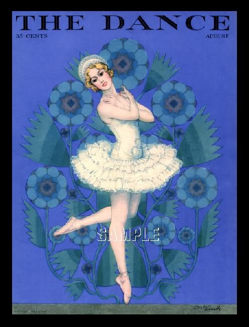 DANCE MAGAZINE COVER BALLET BALLERINA CANVAS ART LARGE