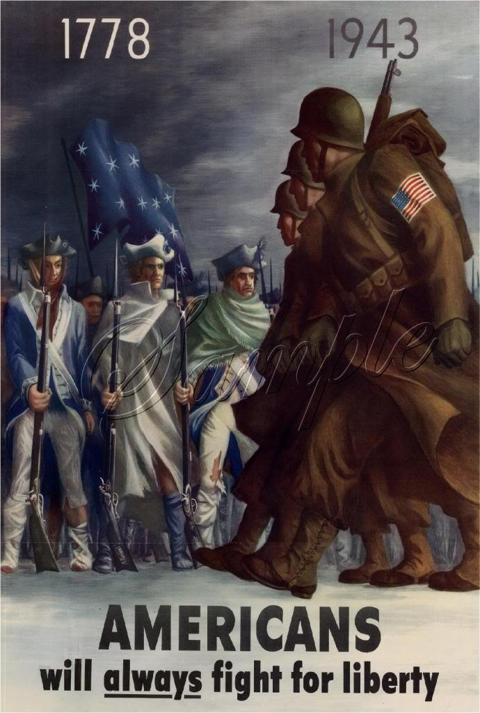 VINTAGE WWII WAR RECRUITING SOLDIERS LIBERTY CANVAS ART