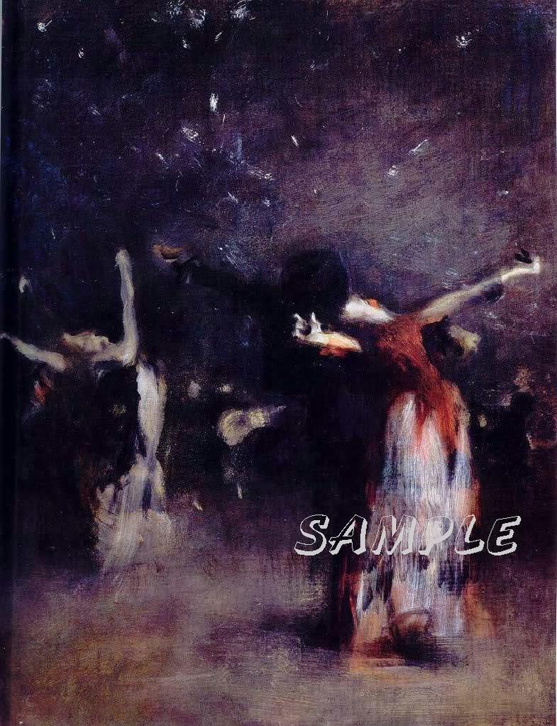 VINTAGE SPANISH DANCE FLAMENCO DANCERS LARGE CANVAS ART