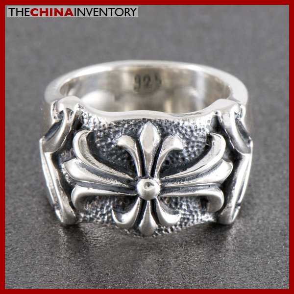 SIZE 9 925 STERLING SILVER GOTHIC CROSS RING SIL0818