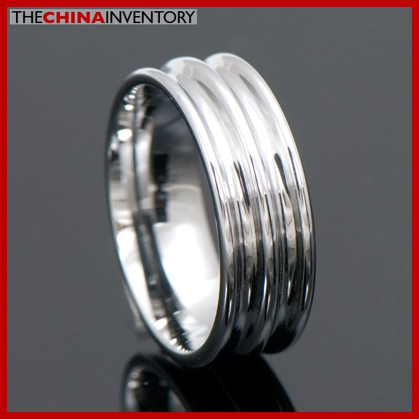 MENS SIZE 10 TUNGSTEN CARBIDE GROOVE RING WEDDING R4006