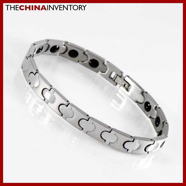"""8MM 8"""""""" STAINLESS STEEL HEALTH THERAPY BRACELET B1117"""
