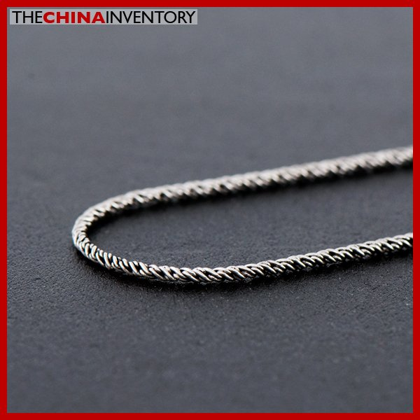 "22"""" 925 STERLING SILVER WOVEN ROPE NECKLACE SIL1507A"