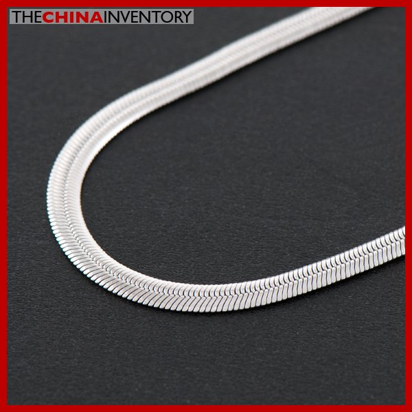 "4mm 20"""" STAINLESS STEEL FLAT SNAKE CHAIN NECKLACE N1609"