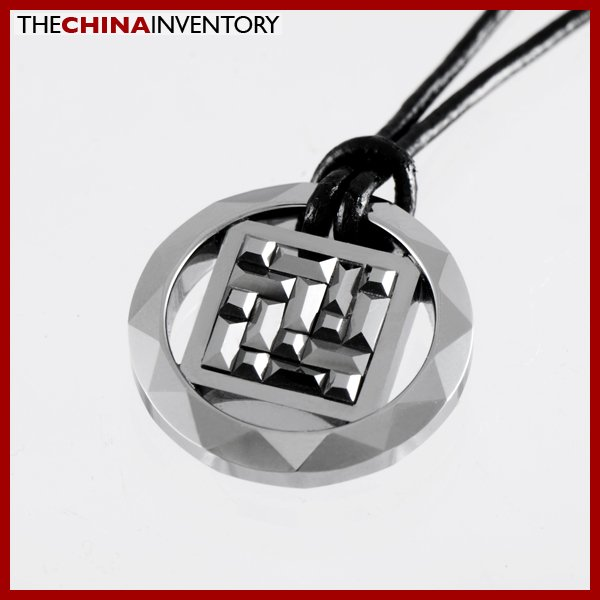 TUNGSTEN CARBIDE FACETED RING PENDANT NECKLACE P1005