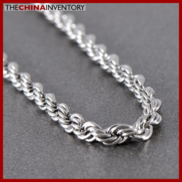 """16"""""""" STAINLESS STEEL TWISTED ROPE CHAIN NECKLACE N0902"""