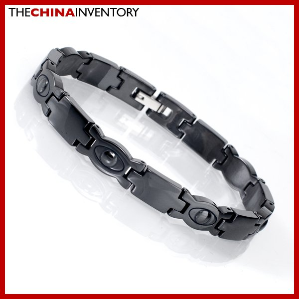 "8MM 8"""" BLACK CERAMIC WATCHBAND EYES BRACELET B2206A"