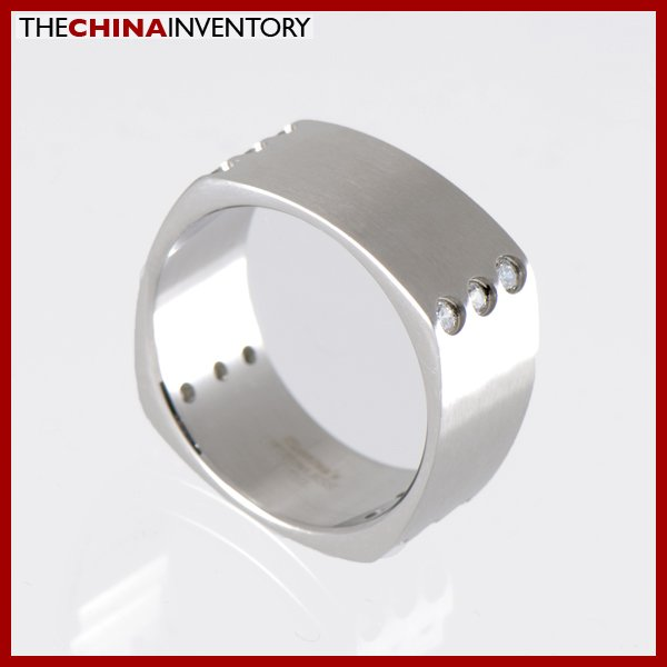 9MM SIZE 12 STAINLESS STEEL SQUARE BAND RING R1213